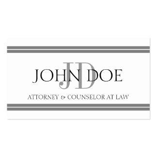 Rechtsanwalts-weiße silberne Streifen Visitenkarten