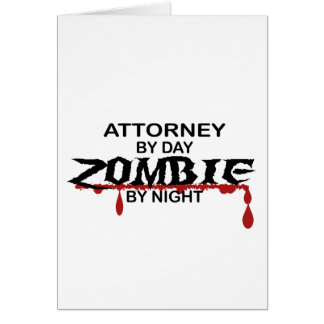 Rechtsanwalts-Zombie Karte