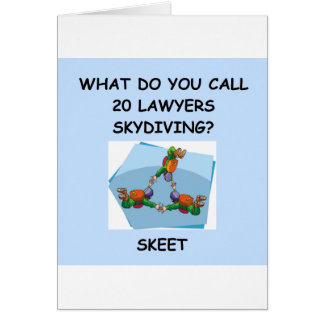 Rechtsanwaltwitzgeschenke und -T - Shirts Karte