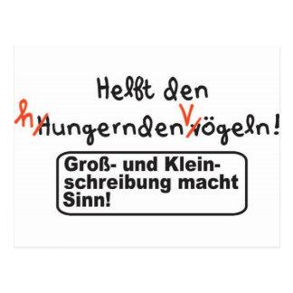 Rechtschreibung Postkarte