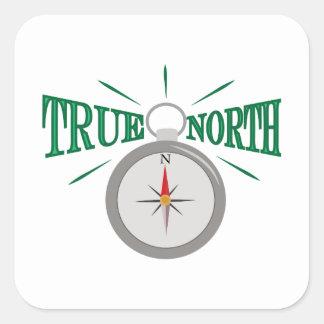 Rechtweisend Nord Quadratischer Aufkleber