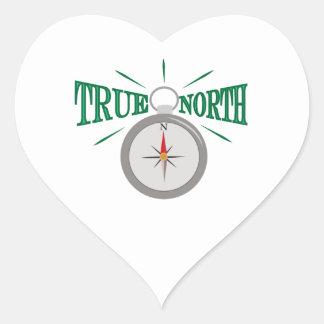 Rechtweisend Nord Herz Sticker