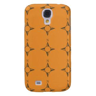 Rechtweisend Nord braunes orang Galaxy S4 Hülle