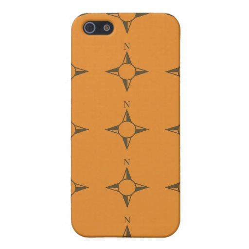 Rechtweisend Nord braunes orang iPhone 5 Hüllen