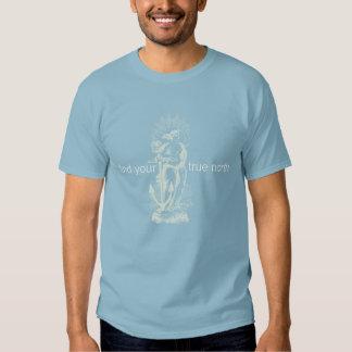 Rechtweisend Nord-Frau u. Anker T Shirt