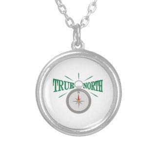 Rechtweisend Nord Halskette Mit Rundem Anhänger