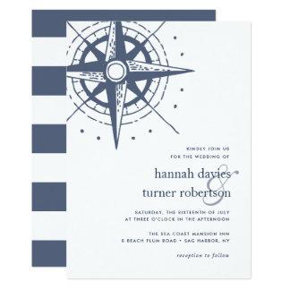 Rechtweisend Nord-Hochzeits-Einladung Karte