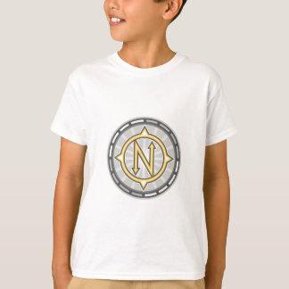 Rechtweisend Nord-Kompass Retro Hemden