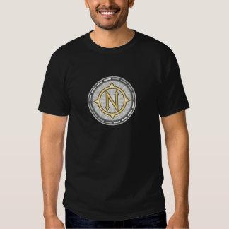 Rechtweisend Nord-Kompass Retro Tshirt