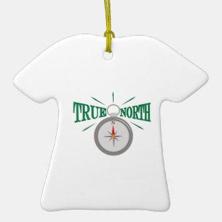Rechtweisend Nord Keramik T-Shirt-Ornament