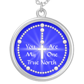 Rechtweisend Nord-Rosenbeet Halsketten