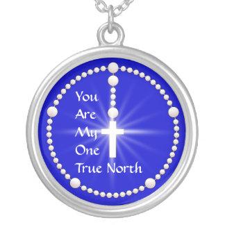 Rechtweisend Nord-Rosenbeet Halskette Mit Rundem Anhänger