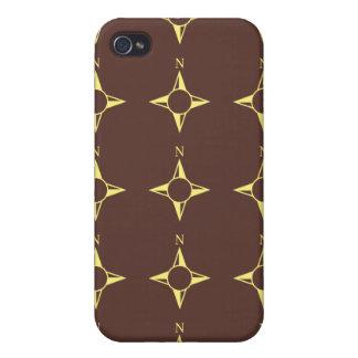Rechtweisend Nordbraun und -GELB iPhone 4 Cover