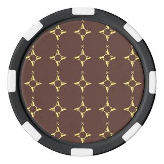 Rechtweisend Nordbraun und -GELB Poker Chip Sets