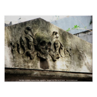 Recoleta Friedhof, Buenos Aires, Argentinien Poster