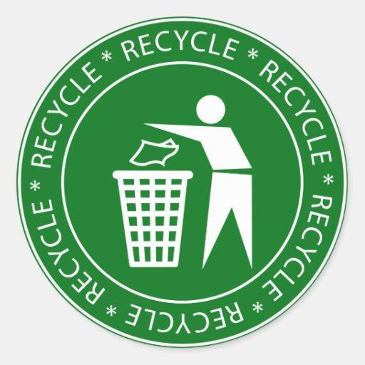 Recyceln der Zeichen-Aufkleber
