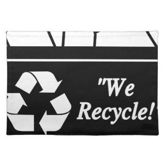 Recyceln des Behälters Tischset