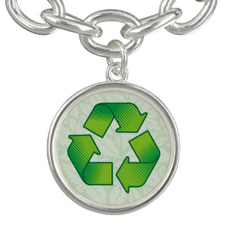 Recyceln des Symbols Charm Armband