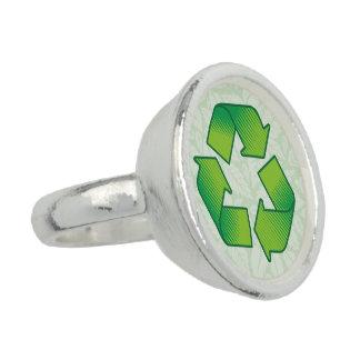 Recyceln des Symbols Foto Ring