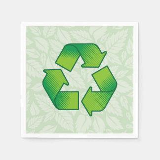 Recyceln des Symbols Papierservietten