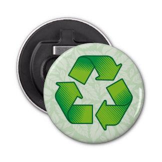 Recyceln des Symbols Runder Flaschenöffner