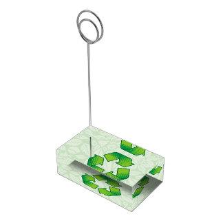 Recyceln des Symbols Tischkartenhalter