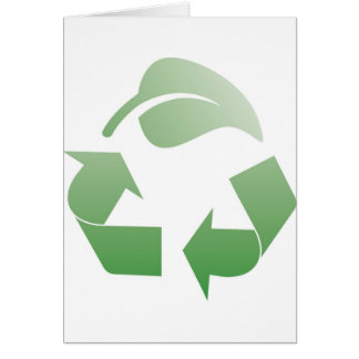 Recyceln des Zeichens Karte