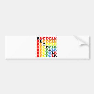Recyceln Sie Autoaufkleber