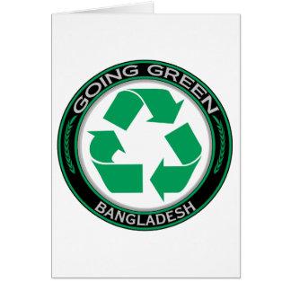 Recyceln Sie Bangladesch Karte