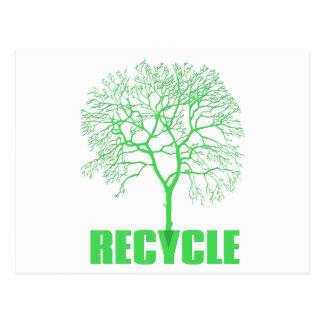Recyceln Sie Baum Postkarte