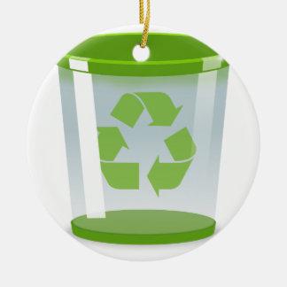 Recyceln Sie Behälter Keramik Ornament