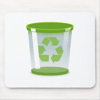 Recyceln Sie Behälter Mousepad