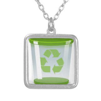 Recyceln Sie Behälter Versilberte Kette