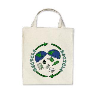 Recyceln Sie Bio Lebensmittelgeschäft-Tasche