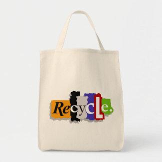 Recyceln Sie Bio Taschen-Tasche Einkaufstasche