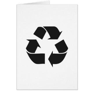 recyceln Sie black.jpg Grußkarte