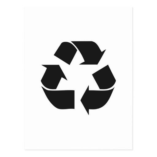 recyceln Sie black.jpg Postkarte