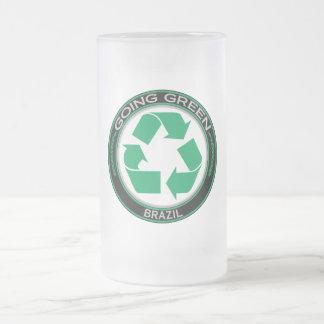 Recyceln Sie Brasilien Mattglas Bierglas