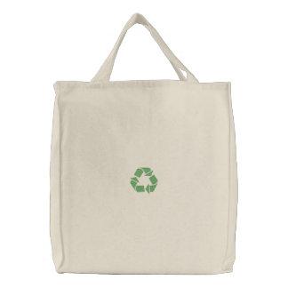 Recyceln Sie das große Symbol Bestickte Taschen