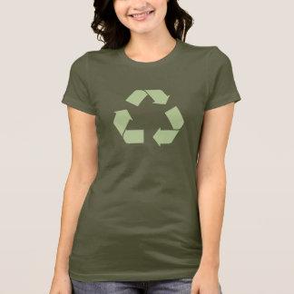 Recyceln Sie den Symbol-T - Shirt, der mit langen T-Shirt