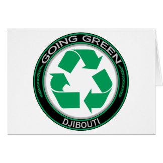 Recyceln Sie Dschibouti Karte