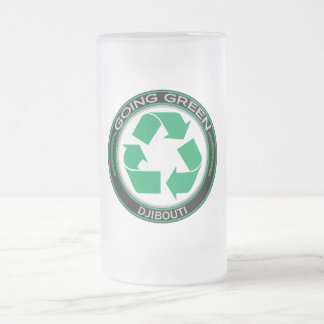 Recyceln Sie Dschibouti Mattglas Bierglas