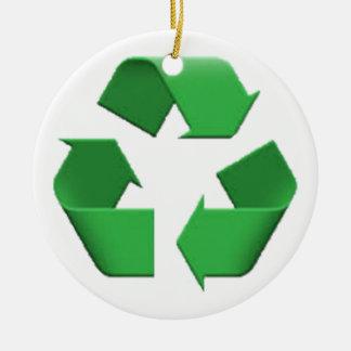 Recyceln Sie - Emoji Keramik Ornament
