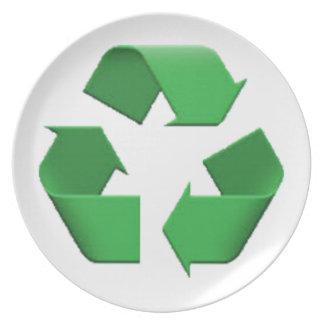 Recyceln Sie - Emoji Melaminteller