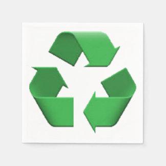 Recyceln Sie - Emoji Papierservietten