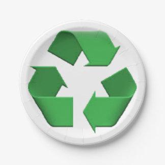 Recyceln Sie - Emoji Pappteller