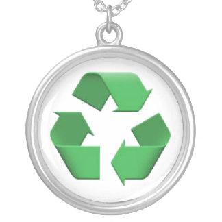 Recyceln Sie - Emoji Versilberte Kette