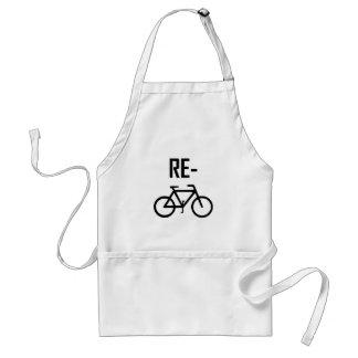 Recyceln Sie Fahrrad-Fahrrad Schürze