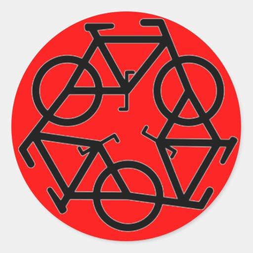 Recyceln Sie Fahrrad-Logo-Symbol Runder Sticker