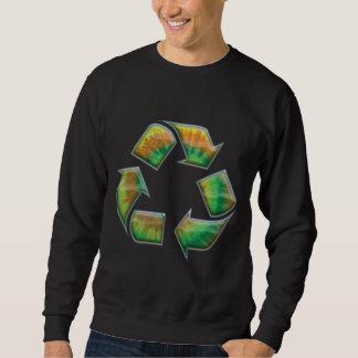 Recyceln Sie - gefärbte Krawatte Sweatshirt